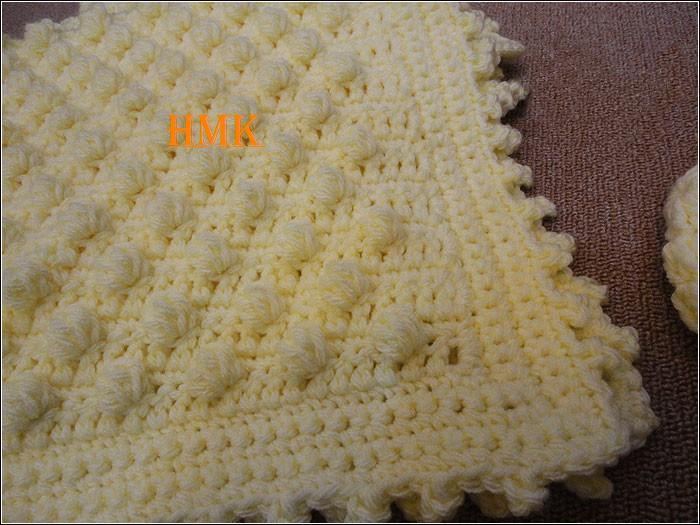 couverture b b et son bonnet crochethmk 39 s blog. Black Bedroom Furniture Sets. Home Design Ideas